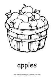 Image Result For Full Basket Of Apples Colouring Page