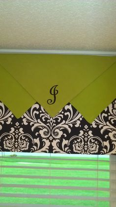 Window treatment simple table napkins added with monogram!!!