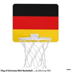 Flag of Germany Mini Basketball Goal Mini Basketball Hoop