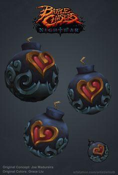 ArtStation - Fan Art: Battle Chasers Night War: Heart Weapons, Elliot Betancourt