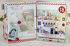 love this baking layout...the enlarged pic and the vellum printed recipe over the photo
