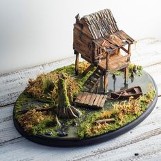 Miniature Diorama Swamp, Bayou Art, Landscape, Miniature House, Diorama Art on Etsy, $380.00