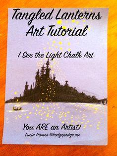 Tangled Lanterns Art Tutorial - I See the Light