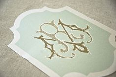 OBSESSED - LOVE this as a backer - Couture Monograms by Emma J Design.