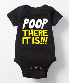 Black 'Poop There It Is' Bodysuit - Infant