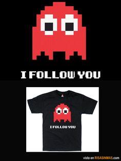 Camisetas originales: Te sigo.