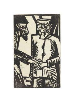 Erich Heckel: Abschied, 1915, woodcut.