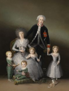 The Duke and Duchess of Osuna and their Children  Francisco de Goya y Lucientes  Oil on unlined canvas, 225 x 174 cm.  1787 - 1788  Museo Nacional del Prado
