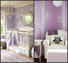 Image result for gray and white with purple nursery