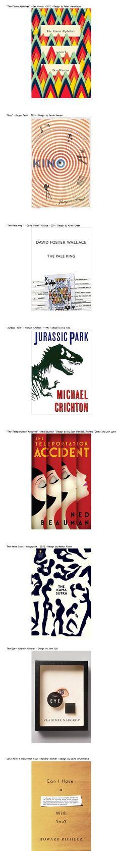 Alcuni validi esempi selezionati di grafica per la copertina di un libro. Una breve gallery di ispirazioni per designer.