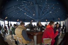 Mt. Bachelor's new umbrella bar. If you don't come up for the snow, stay for the bloodys!