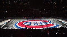 Bell Centre - Hockey area in the dark