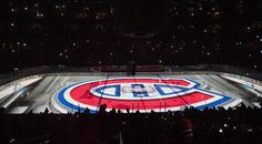 Bell Centre - Hockey area in the dark
