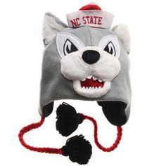 North Carolina State Wolfpack Mascot Knit Beanie
