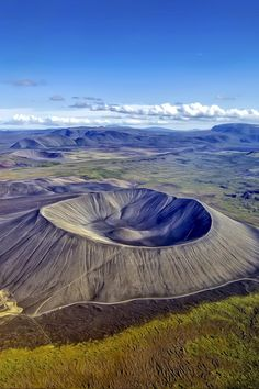 Hverfjall Crater, a tephra cone or tuff ring volcano in northern Iceland by Frank Giess