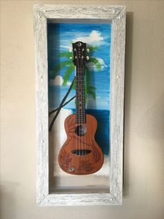 Guitar Display Case, Guitar Storage, Bluegrass Music, Made Of Wood, Banjo, Shadow Box, Frames, Clock, Home Decor