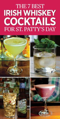 7 Whiskey Cocktails for St. Patrick's Day - Irish Whiskey Drinks - Looking for a new way to spice up your St. Patty's Day celebration? Try Irish whiskey. Get the full recipe round-up at redbookmag.com.