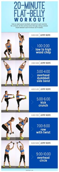 Here is a great ab workout to lose weight and get great abs.  Do each exercise for 1min and go through the circuit 2xs with a 1min rest in between.  For more health and fitness tips click the picture.