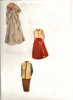 Maj-Britt paper doll clothes, 1954