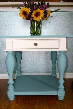 Gorgeous two tone chalk paint table