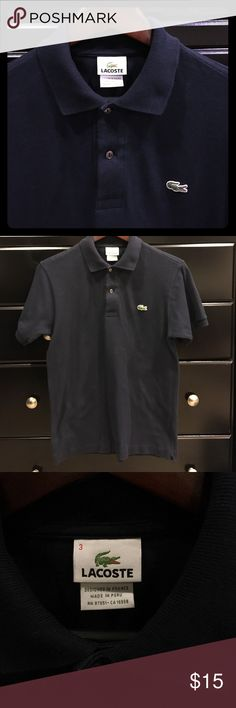 Men's Lacoste Navy Polo Short sleeve, navy polo shirt. Lacoste Shirts Polos