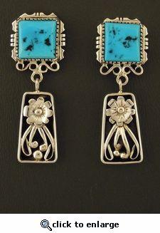 Navajo Dangle Earrings by Jerry Begay