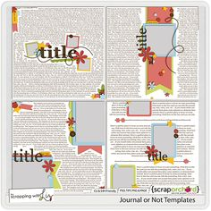 Journal or Not Templates from Scrapping with LIz