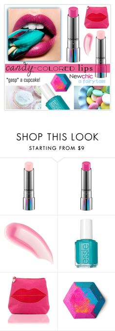 """So Sweet: Candy-Colored Lips"" by drennie ❤ liked on Polyvore featuring beauty, MAC Cosmetics, Chantecaille, Essie, Lipsy, BeautyTrend, Beauty, candylips and candycoloredlips"