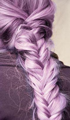 Pastel purple/pink braid #SpringPastels #braid #longhair