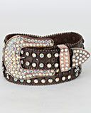 Nocona Belt Co. Ladies' Triple Cross Crystal Belt - www.fortwestern.com