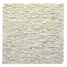 Fauve Cream/Beige Unique Shapes Natural Stone Tumbled Tile