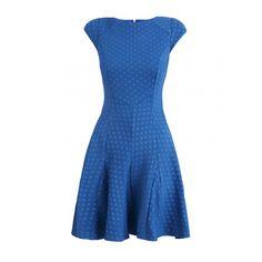 Closet Blue Spot Flare Dress