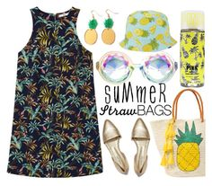 """Pineapple Straw"" by dhitabella on Polyvore featuring MANGO, Sensi Studio, Keds and strawbags"