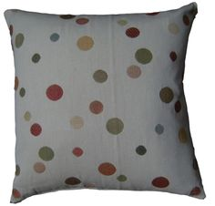 Cushion Covers Red Green Gold Spots Bubbles Weave Handmade  Scatter Voyage fabric £5.45 from www.hollesleycottagecrafts.co.uk