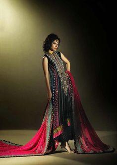 black and multicolor