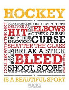 Hockey is a beautiful sport