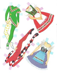 PAPER DOLL DANCERS Published by Whitman #1981, 1979 Ѽ 6 of 8