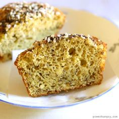 """Quick and easy mini soda breads, made with chickpea flour! They are grain-free, vegan, gluten-free, and have an optional """"everything bagel"""" topping. Bread Baking, Baking Soda, Vegan Baking, Baking Tips, Gluten Free Recipes, Bread Recipes, Vegan Recipes, Bakery Recipes, Chickpea Flour Recipes"""