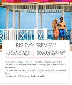 Big Day Preview - check it out for yourself to find out if this destination in Jamaica is going to work for your special day!  For more details contact us at Cruise Planners - Linda Kolanko.