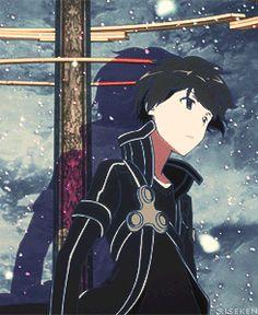 Sword Art Online-end credits Sao Ggo, Kirito Kirigaya, Kirito Asuna, Kirito Sword, Arte Online, Online Art, Light Novel, Tous Les Anime, Sword Art Online Kirito