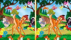 Bambi+sa+vybral+do+lesa+a+ty+dostaneš+dva+obrázky+z+jeho+zážitkov.+Lenže+na+jednom+chýbajú+niektoré+veci+a+práve+tie+treba+nájsť.+Ak+nájdeš+rozdiel,+klikni+naň+myškou!