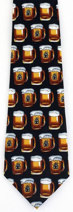 New Oktoberfest Mens Necktie Beer Alcohol Home Brew Bar Pub Mug Novelty Neck Tie #StevenHarris #NeckTie