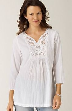 crochet trim shirt