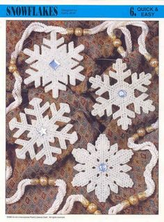 Plastic canvas snowflake patterns.
