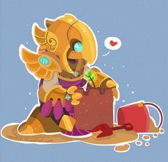 League of Legends Artwork: Azir [Cute]