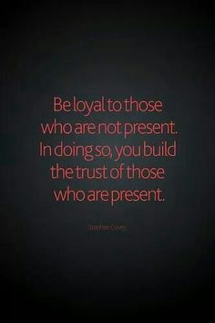 Loyalty & trust