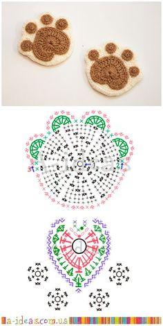 Marque-pages Au Crochet, Mandala Au Crochet, Crochet Motifs, Crochet Diagram, Crochet Chart, Crochet Doilies, Crochet Flowers, Crochet Patterns, Crochet Coaster