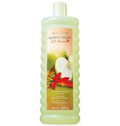 Fresh-picked green apple with sparkling pear and creamy muguet. Luxuriate in a tub full of dreamy, delicately scented bubbles. Leaves skin f...  www.youravon.com/lalbrecht. $5.99.