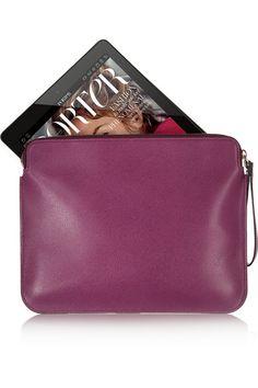 Valextra Textured-leather iPad case