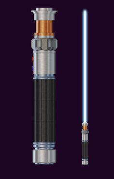 Jedi Lightsaber, Lightsaber Design, Star Wars Timeline, Jedi Sith, Star Wars Light Saber, Jedi Knight, Bae Suzy, Fantasy Weapons, Star Wars Collection